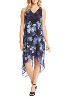 Karen Kane Floral-Print High/Low Hem Dress