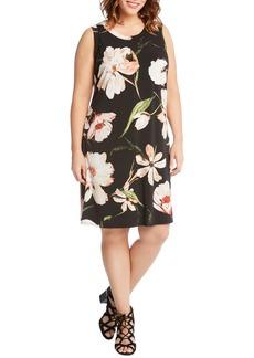 Karen Kane Floral Print Shift Dress (Plus Size)