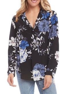 Karen Kane Floral Printed Shirt