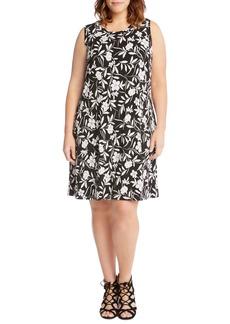 Karen Kane Floral Shift Dress (Plus Size)
