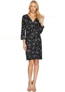 Karen Kane Floral Stitch Print Shift Dress