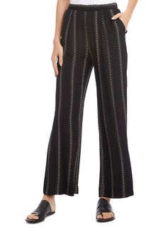 Karen Kane Floral Stripe Wide Leg Pants