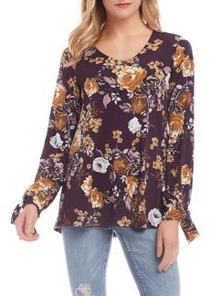 Karen Kane Floral Tie Sleeve Top