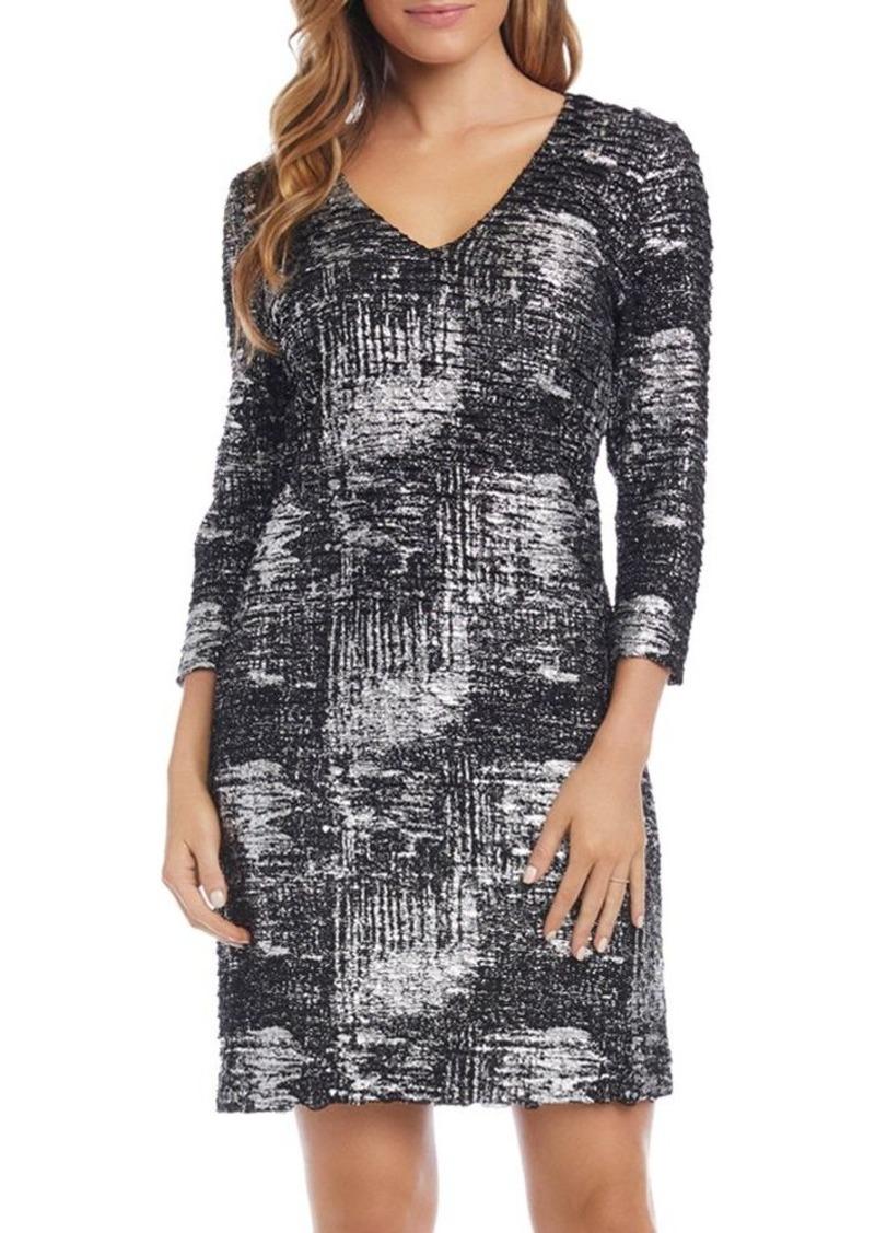 Karen Kane Foil Knit Sheath Dress