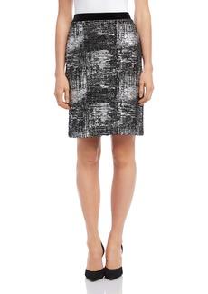 Karen Kane Foil Knit Skirt