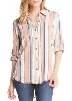 Karen Kane Fringe Hem Shirt