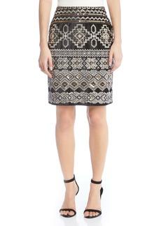 Karen Kane Front Sequin Skirt