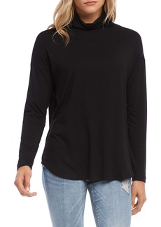 Karen Kane Funnel Neck Shirttail Top