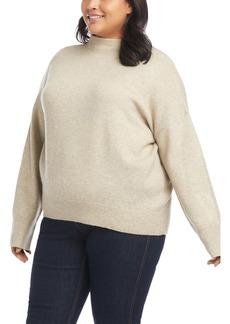 Karen Kane Funnel Neck Sweater (Plus Size)