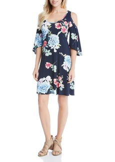Karen Kane Garden Rose Cold-Shoulder Dress
