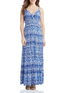 Karen Kane Geometric Print Tiered Maxi Dress
