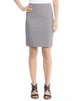 Karen Kane Gingham Pencil Skirt
