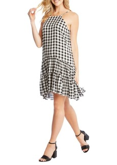 Karen Kane Gingham Ruffle Hem Dress