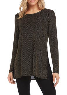 Karen Kane Gold Sparkle Knit Top