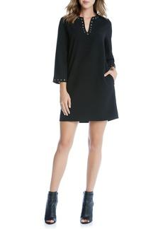 Karen Kane Grommet Trim Shift Dress