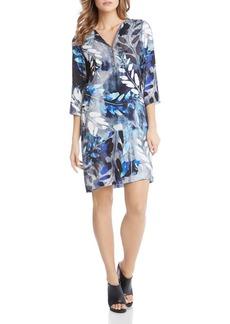 Karen Kane Half-Zip Printed Shift Dress