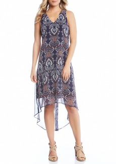 Karen Kane High/Low Chiffon Dress