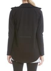 Karen Kane High/Low Ponte Track Jacket
