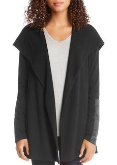 Karen Kane Hooded Faux Leather Trim Jacket