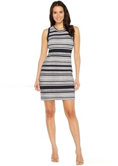 Karen Kane Indigo Stripe Jacquard Dress
