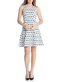 Karen Kane Jacquard Fit & Flare Dress