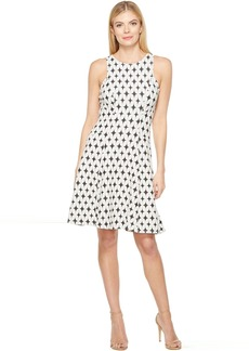 Karen Kane Jacquard Knit Flare Dress