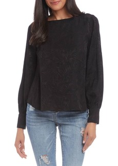 Karen Kane Jacquard Shirred Sleeve Top