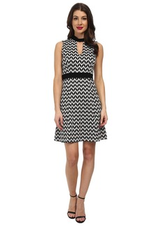Karen Kane Knit Chevron Dress