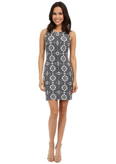 Karen Kane Knit Jacquard Dress