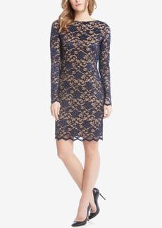 Karen Kane Lace Illusion Sheath Dress