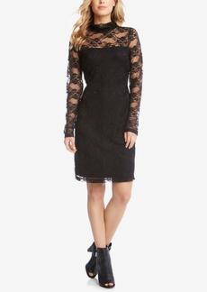 Karen Kane Lace Mock-Neck Sheath Dress