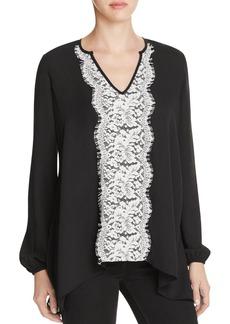 Karen Kane Lace Panel Blouse - 100% Exclusive