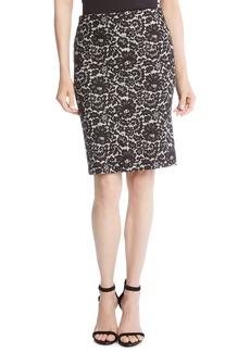 Karen Kane Lace Print Pencil Skirt