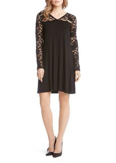 Karen Kane Lace-Sleeve Dress