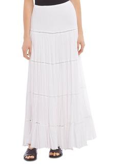 Karen Kane Lace-Trim Maxi Skirt