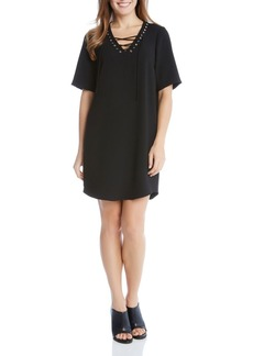 Karen Kane Lace-Up Dress