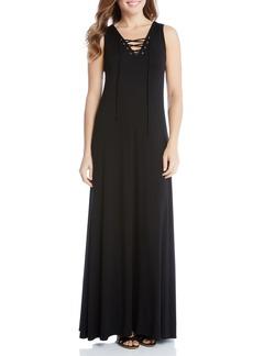Karen Kane Lace-Up Maxi Dress