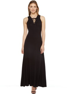Karen Kane Lace-Up Maxi Dress