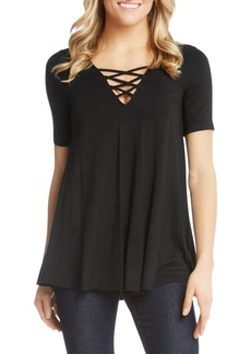 Karen Kane Lace-Up Swing Top