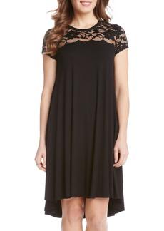 Karen Kane Lace Yoke Cap Sleeve Swing Dress