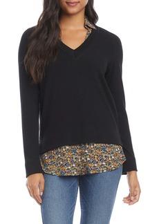 Karen Kane Layered V-Neck Sweater