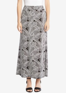 Karen Kane Leaf-Print Maxi Skirt