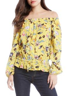 Karen Kane Lemonade Floral Blouson Top