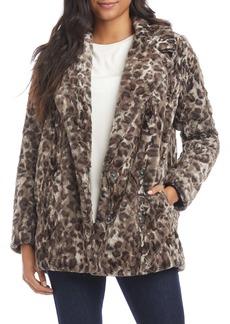 Karen Kane Leopard Faux Fur Jacket