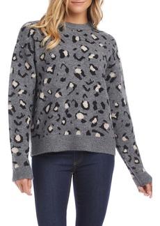 Karen Kane Leopard Jacquard Sweater