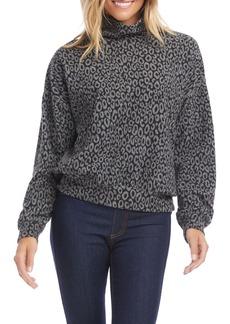 Karen Kane Leopard Mock Neck Top