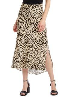 Karen Kane Leopard-Print Bias-Cut Skirt