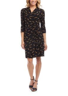 Karen Kane Leopard Print Cascade Dress