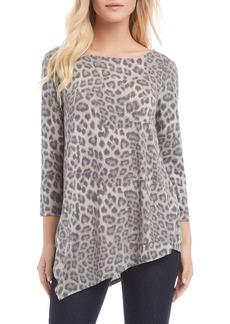 Karen Kane Leopard Print Crisscross Back Top