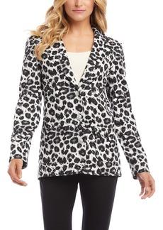 Karen Kane Leopard Print Jacquard Blazer